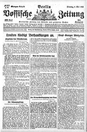 Vossische Zeitung vom 08.05.1923