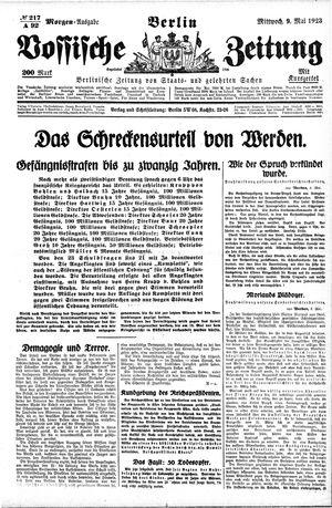 Vossische Zeitung vom 09.05.1923