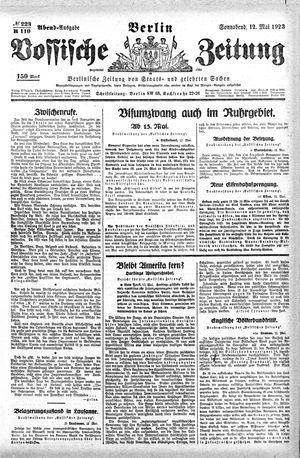 Vossische Zeitung on May 12, 1923