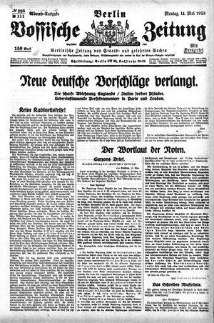 Vossische Zeitung vom 14.05.1923