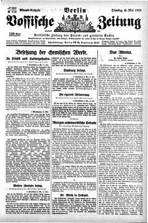 Vossische Zeitung vom 15.05.1923