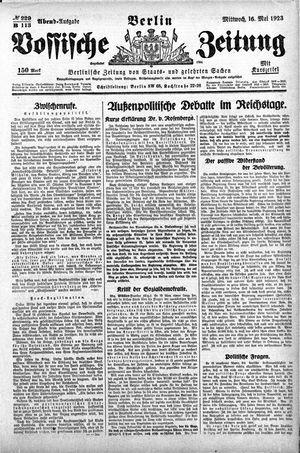 Vossische Zeitung vom 16.05.1923