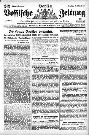 Vossische Zeitung vom 18.05.1923