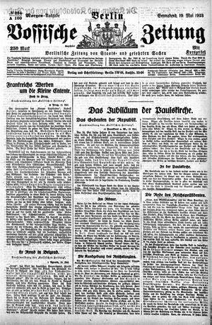 Vossische Zeitung vom 19.05.1923