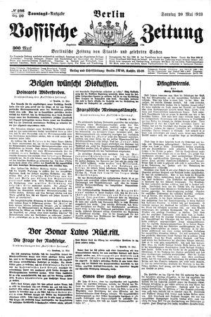 Vossische Zeitung vom 20.05.1923