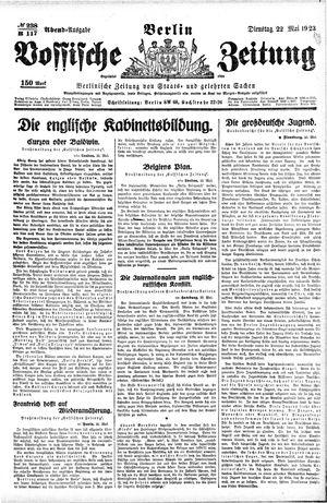 Vossische Zeitung vom 22.05.1923