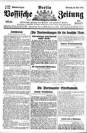 Vossische Zeitung vom 23.05.1923