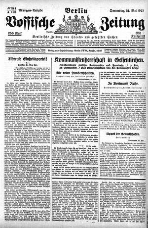 Vossische Zeitung vom 24.05.1923