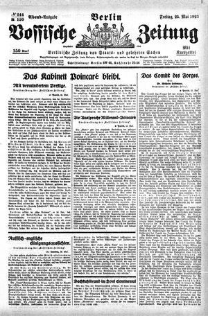 Vossische Zeitung vom 25.05.1923