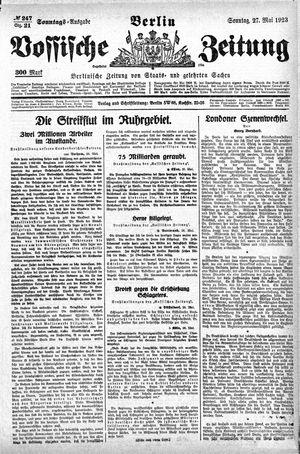 Vossische Zeitung vom 27.05.1923