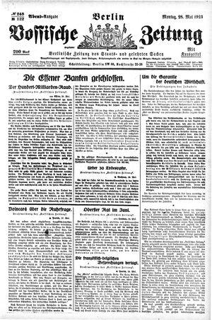 Vossische Zeitung vom 28.05.1923
