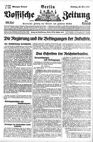 Vossische Zeitung vom 29.05.1923