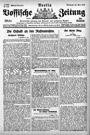 Vossische Zeitung on May 30, 1923