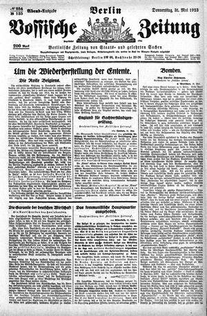 Vossische Zeitung vom 31.05.1923