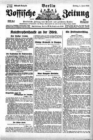 Vossische Zeitung vom 01.06.1923