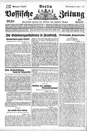 Vossische Zeitung vom 02.06.1923