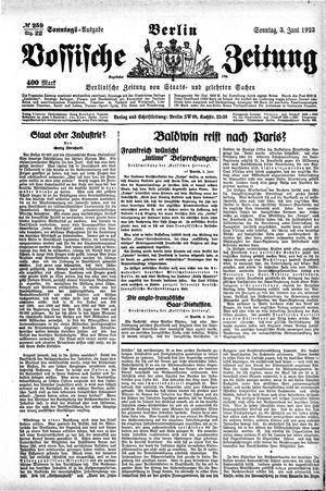 Vossische Zeitung vom 03.06.1923