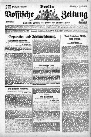 Vossische Zeitung vom 05.06.1923