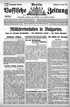 Vossische Zeitung on Jun 10, 1923