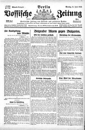 Vossische Zeitung vom 11.06.1923