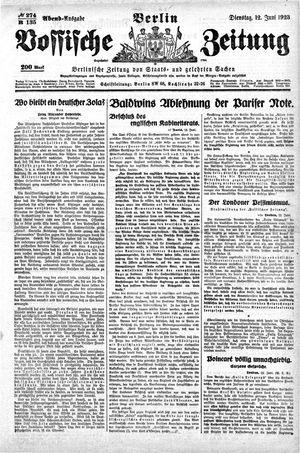Vossische Zeitung vom 12.06.1923