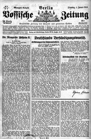 Vossische Zeitung vom 01.01.1924