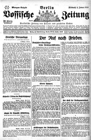 Vossische Zeitung vom 02.01.1924