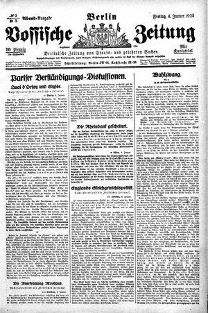 Vossische Zeitung on Jan 4, 1924