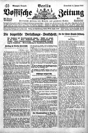 Vossische Zeitung vom 05.01.1924