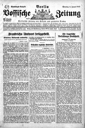 Vossische Zeitung vom 06.01.1924