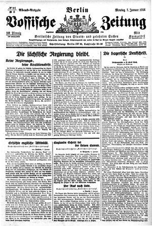 Vossische Zeitung vom 07.01.1924