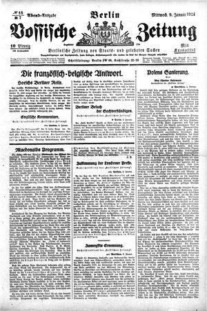Vossische Zeitung vom 09.01.1924