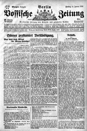 Vossische Zeitung vom 11.01.1924