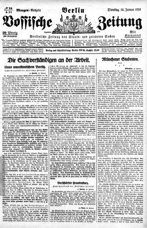 Vossische Zeitung vom 15.01.1924