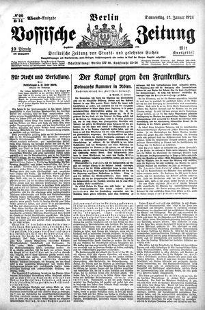 Vossische Zeitung vom 17.01.1924