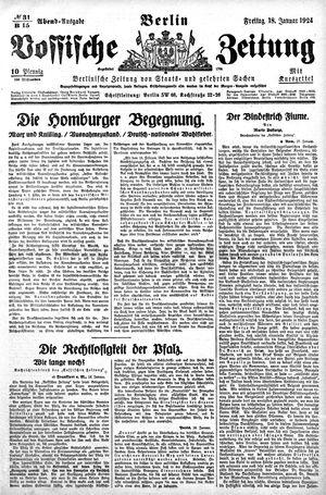 Vossische Zeitung vom 18.01.1924