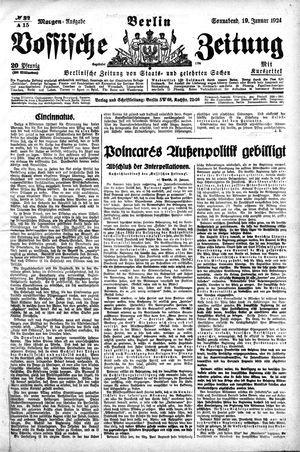 Vossische Zeitung vom 19.01.1924