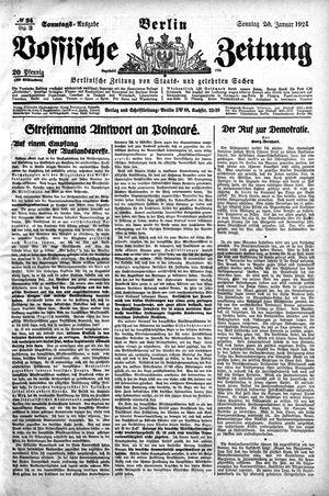 Vossische Zeitung vom 20.01.1924