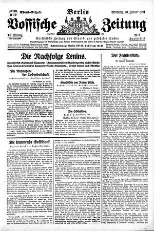 Vossische Zeitung vom 23.01.1924