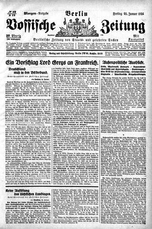 Vossische Zeitung vom 25.01.1924