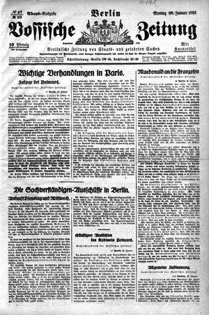 Vossische Zeitung vom 28.01.1924