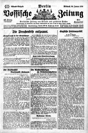 Vossische Zeitung vom 30.01.1924
