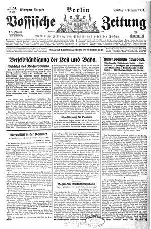 Vossische Zeitung vom 01.02.1924