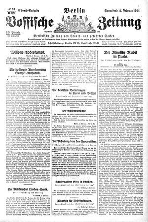 Vossische Zeitung vom 02.02.1924