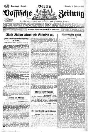 Vossische Zeitung vom 03.02.1924