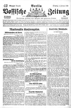 Vossische Zeitung vom 05.02.1924