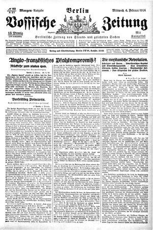 Vossische Zeitung vom 06.02.1924