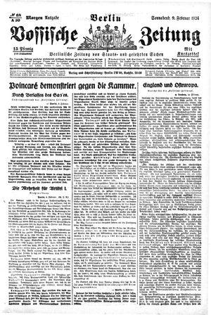 Vossische Zeitung vom 09.02.1924