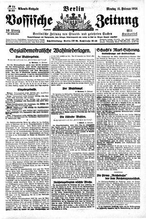 Vossische Zeitung vom 11.02.1924
