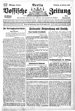 Vossische Zeitung vom 12.02.1924